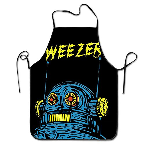 (KIYOMM Custom Funny Rock Weezer Barbecue Apron)