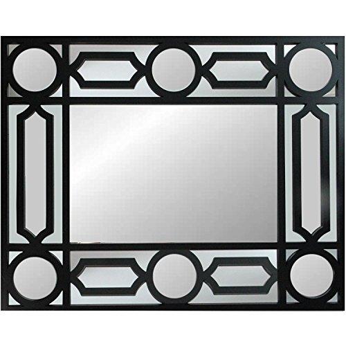 "29.5"" Geometric Openwork Matte Black Decorative Rectangular"