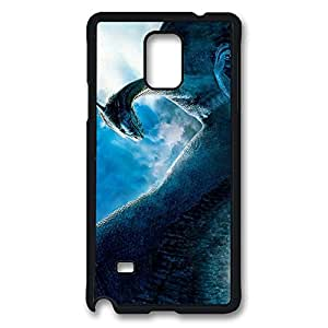 Samsung Galaxy Note 4 Case, Note 4 Case - Highly Protective Black Hard Back Case for Galaxy Note 4 Case Fantasy World Dragon Anti-Scratch Hard Case for Samsung Galaxy Note 4