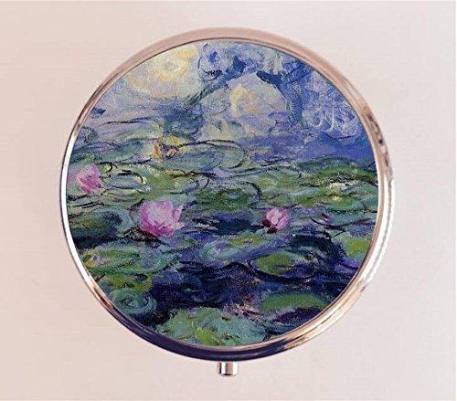 Claude Monet Water Lilies Pill Box Pillbox Case Holder Fine Art Painting Box Epoxy