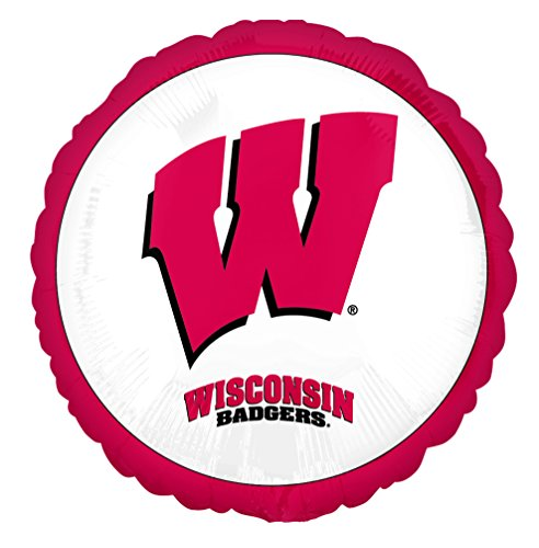 Anagram International University of Wisconsin Foil Flat Balloon, 18