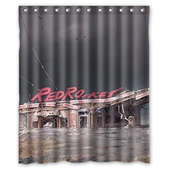 RedRocket In Fallout 4 Custom 100 Polyester Shower Curtain 60quot