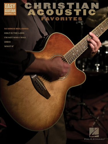 Christian Acoustic Favorites: Easy Guitar with Notes & Tab