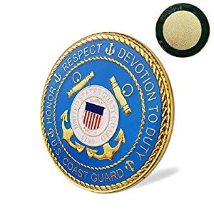 United States Coast Guard Car Emblem USCG Military Metal Auto Decal from Indeep