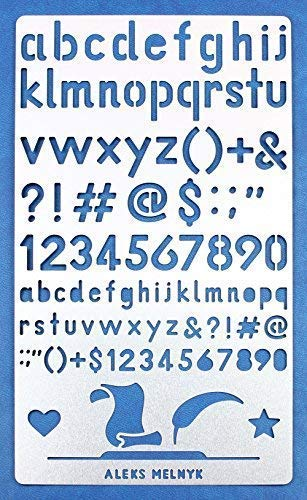 ABC//Stainless Steel Stencils Kit 3 PCS//Templates Tool for Wood Burning Aleks Melnyk #34 Metal Journal Stencils//Alphabet Letter Number Pyrography and Engraving//Scrapbooking//Crafting//DIY