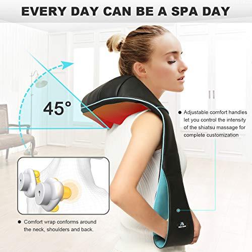 Back Neck Shoulder Massager with Heat – Deep Tissue Kneading Electric Back Massage for Neck, Back, Shoulder, Waist, Foot…