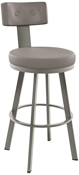 amisco tower swivel metal counter stool with backrest 26inch