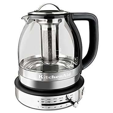 KitchenAid KEK1322SS 1.5L Electric Glass Tea Kettle Stainless Steel