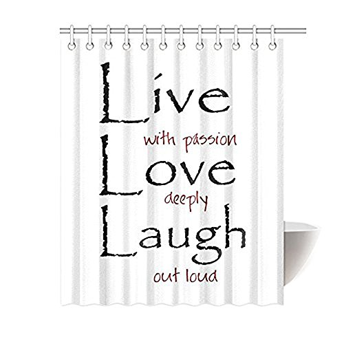 Saying Live Laugh Love Quotes Art for Home Bathroom Shower C
