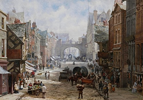 (Posterazzi Chester Eastgate Street Poster Print by Louise Rayner (18 x)