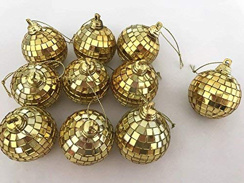 Moonvvin 6 Pack Mini Disco Mirror Ball Christmas Tree Bauble Home Party Decoration Gift Fun Room -