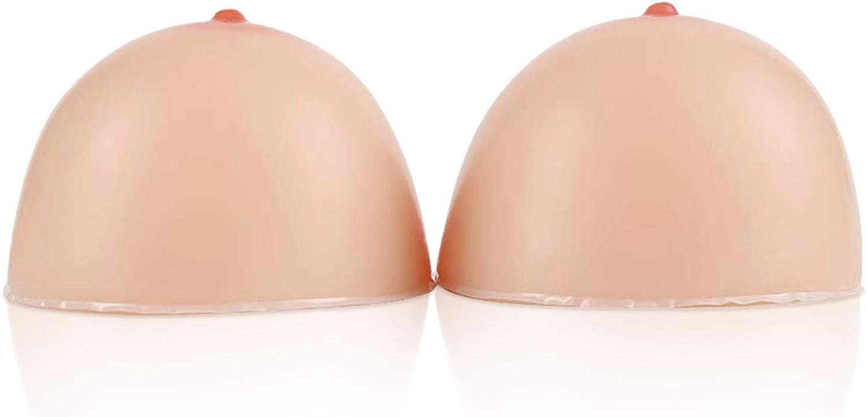 Vollence Seno Autoadesivo in Silicone Forma Seno Finto per Protesi di Mastectomia Transgender Travestito Transessuale Cosplay CD