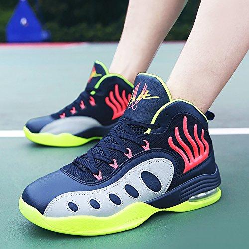 No.66 Town Heren Lucht Schokabsorptie Hardlopen Tennisschoenen Sneaker Basketbalschoenen Diepblauw