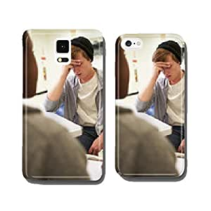 Young Man Talking To Counsellor Who Takes Notes cell phone cover case Samsung S6