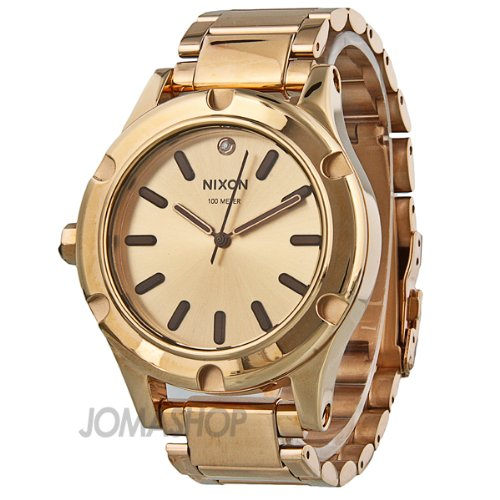 Nixon Camden Champagne Dial Rose Gold Tone Mens Watch