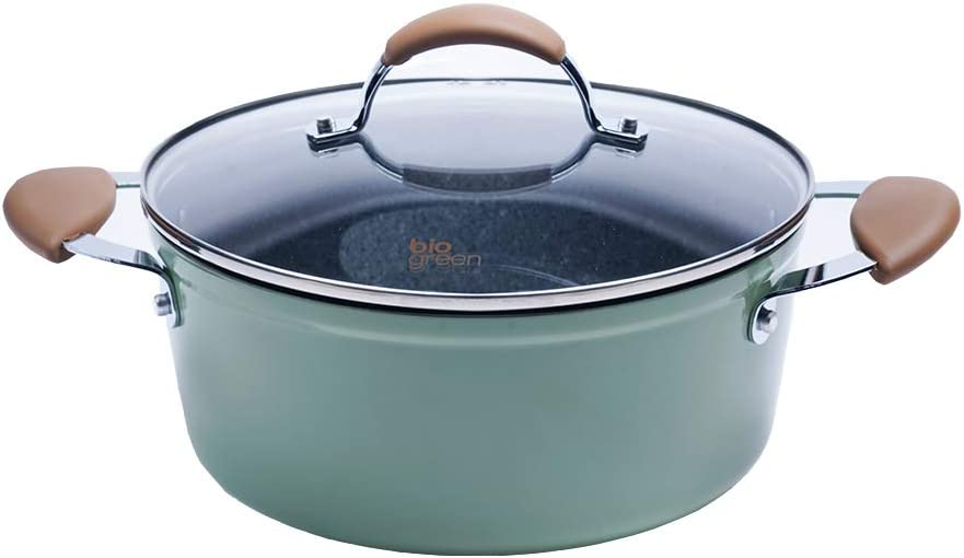 CAROTE Stone Coating Casserole Saucepot With Lid 8 Inch