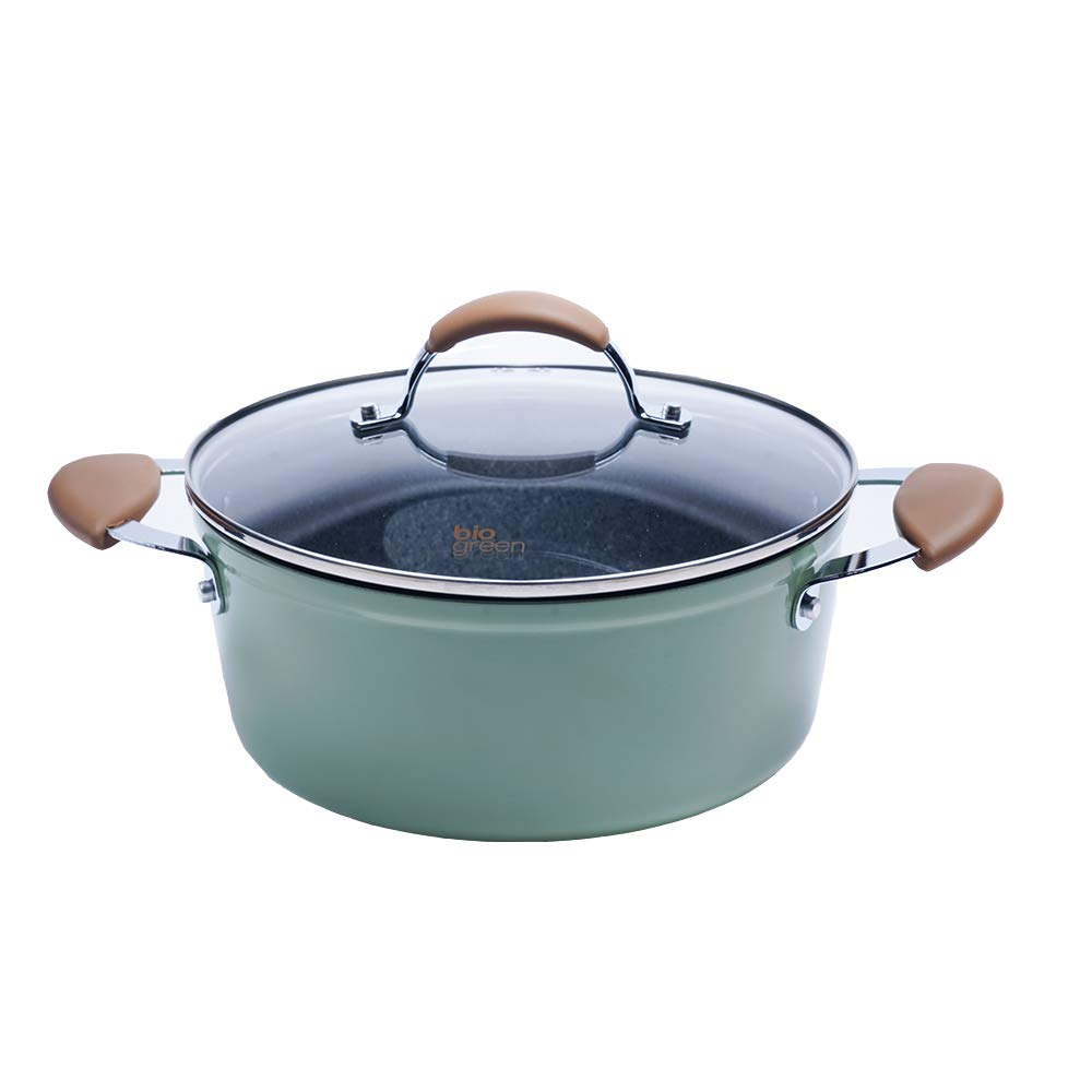 Dutch Oven with Lid & Dual Handle, Non-Stick Casserole Saucepan with Stone-Derived Coating, Suitable for All Stoves including Induction, 9.5 Inch/4.4 Quart by CAROTE