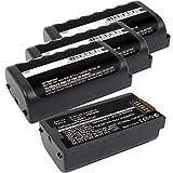 4x Exell EBS-MC31X 3.7V 4400mAh Li-Po Batteries For Symbol MC3100, MC3190, MC3190G, MC3190-G13H02E0, MC3190-GL4H04E0A, MC3190-KK0PBBG00WR, MC3190-RL2S04E0A, MC3190-RL4S04E0A