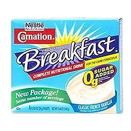 Carnation Instant Breakfast Carb Conscious Vanilla Flavor 10.6 oz. [Box of 8]