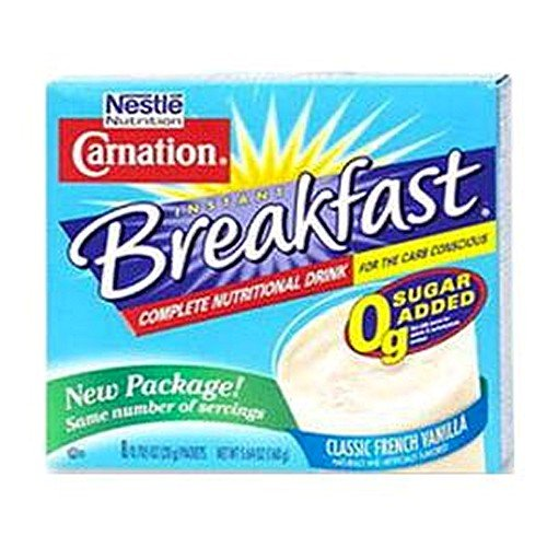 Carnation Instant Breakfast Carb Conscious Vanilla Flavor 10.6 oz. [Box of 8]