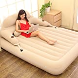 Air Mattress Inflatable bed duet lovers thicker portable any folding-A 152x203cm(60x80inch)