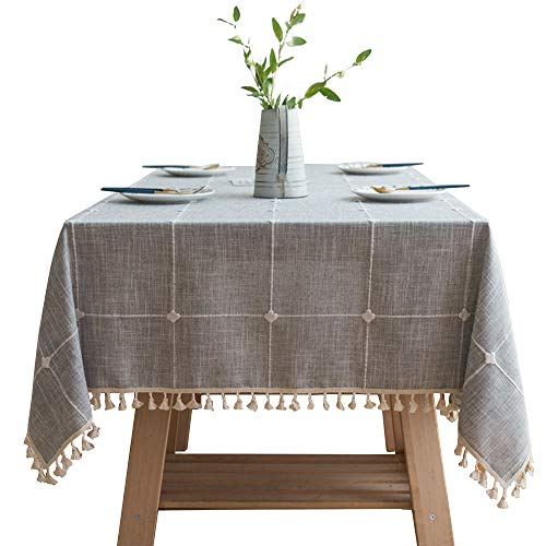 embroidery lattice tassel tablecloth cotton