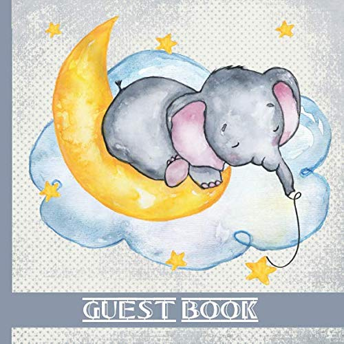 Guest Book: Blue Elephant Theme Includes Gift Tracker and Picture Memory Section to Create a Lasting Family Keepsake. (Blue Elephant Baby Shower Guest Books)]()