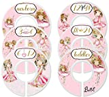 Mumsy Goose Nursery Closet Dividers Closet Organizers Baby Girl Clothes Dividers Ballerina