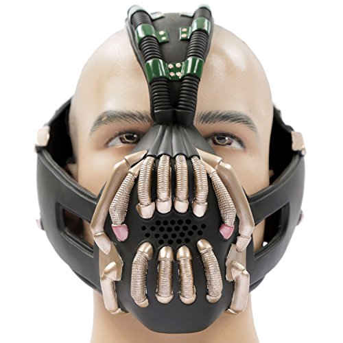 Bane Mask Replica Bronze Version Adult Size for Batman the Dark Knight Rises Xcoser