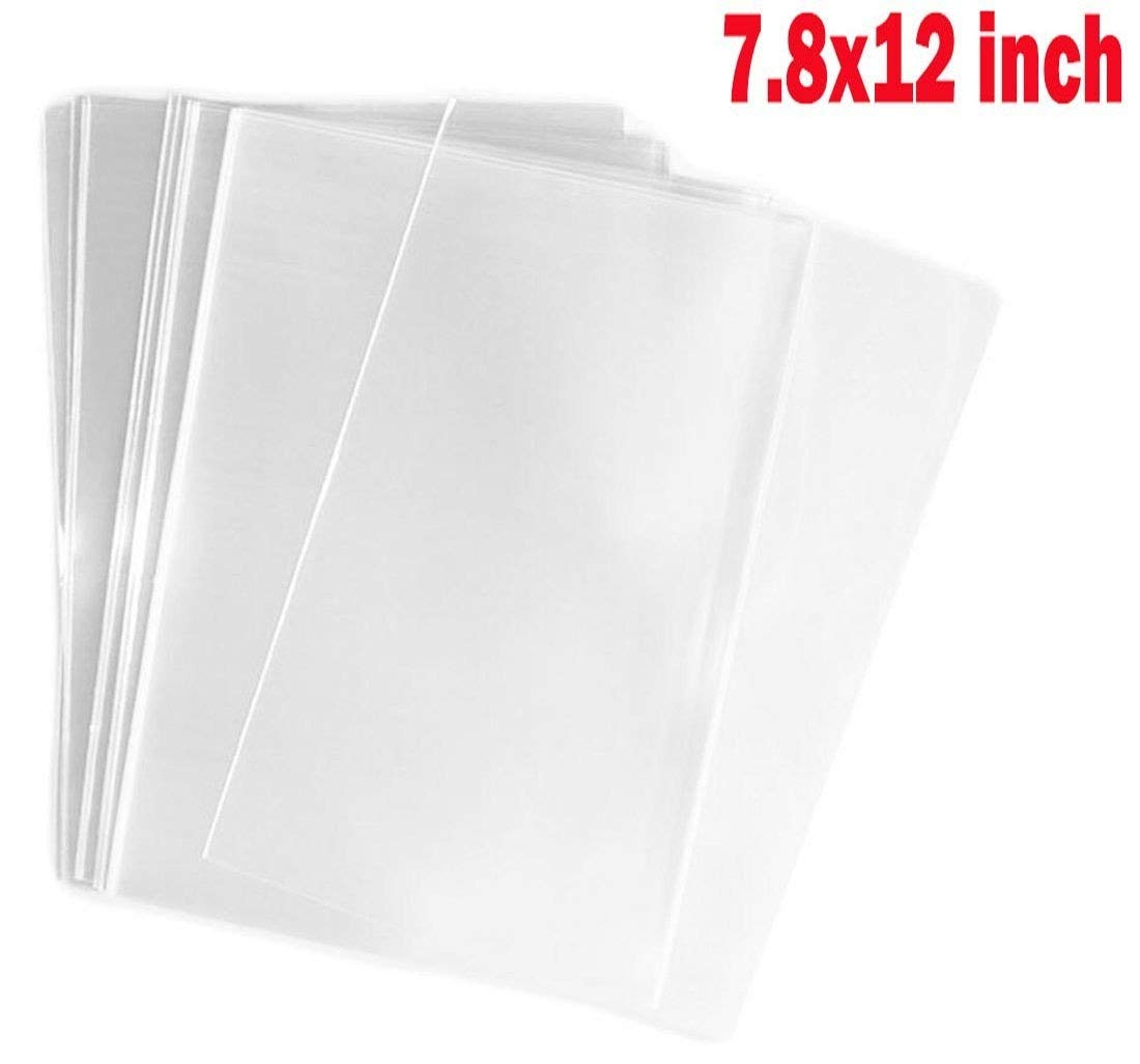 100PCS 7.8x12 / 20x30cm (5 mil Thick) Clear Flat Cello/Cellophane Sealable OPP Plastic Disposable Treat Bag For Gift Wrap Packing Party Favors Wedding Samples Bakery Cookies Candies Home Kitchen Sto Office Product TUPWEL-1 B07C7Y74LN