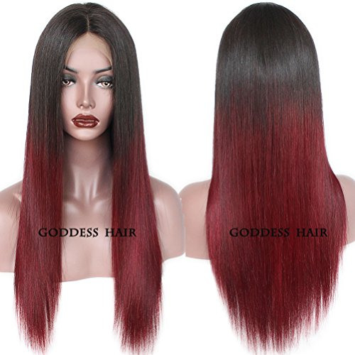 Goddess Human Hair Straight Full Lace Wig 100% Real Brazilia