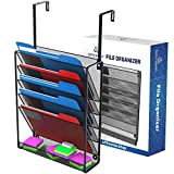 Hanging Organizer Cubicle File Holder - Wall Mount Shelf Storage, Office Cubical Accessories