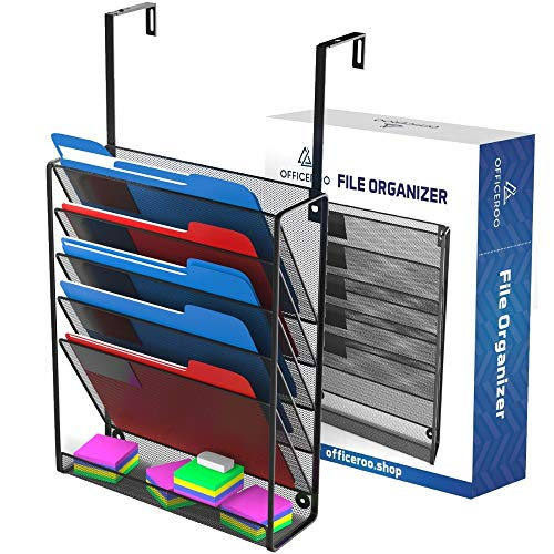 Hanging Organizer Cubicle File Holder - Wall Mount Office Cubical Partition Folder Storage