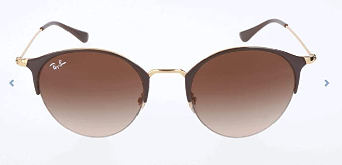 RAY-BAN 3578 Gafas de sol, Gold Top Brown, 51 Unisex-Adulto