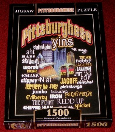 Pittsburghese Jigsaw Puzzle~1500 Pieces~size 34' X 22'~~sealed~pittsburgh Slang Words at Steeler Mania