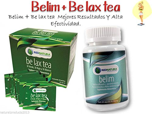 Amazon.com: Red Natura Belim Capsules and Be Lax Tea ,Excellent Weight Loss and Detox: Health & Personal Care