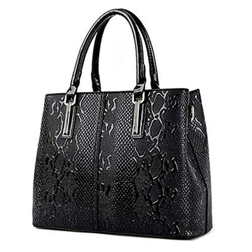 PU sacs dames tout en printemps bandoulière cuir luxe sac sacs designer sac à serpent fourre à main femmes Black de dames 11rq8a
