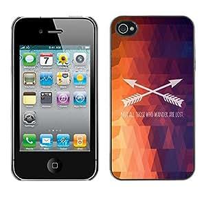 CashCase @ FOR iPhone 4 / 4S Polygon Arrow Text Pattern Fire Purple Doble capa de armadura de la cubierta del caso del protector