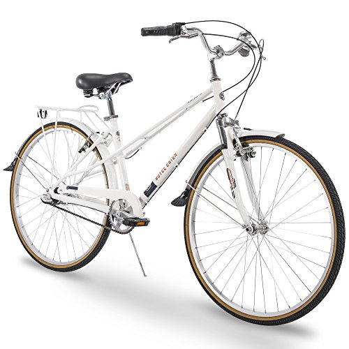 "Royce Union 700c RMX Womens 3-Speed Commuter Bike, 15"" Aluminum Frame, White The Huffy Bicycle Company"