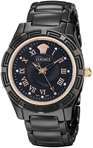 Versace Women's 63QCP9D009 SC09 DV One Analog Display Swiss Quartz Black Watch