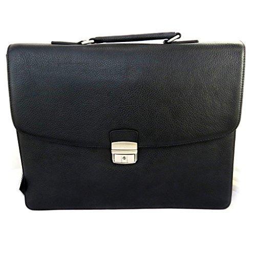 Aktentasche aus leder 'Ted Lapidus'1 schwarz faltenbalg (spezielle computer)38 cm.