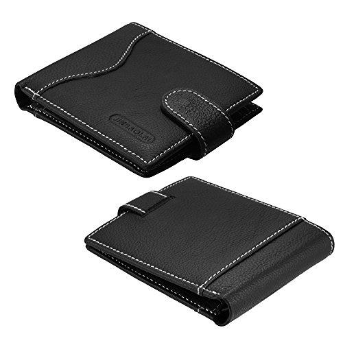 XCSOURCE® Männer Brieftasche Abendessen Schlank Bifold Brieftasche Geldbörse, 2 ID / Führerschein Windows + 3 Kreditkartenfächer + Münztasche MT506