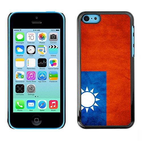 Omega Case PC Polycarbonate Cas Coque Drapeau - Apple iPhone 5C ( Taiwan Grunge Flag )