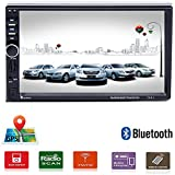 Car Stereo - 2 Din Car Radio Multimedia GPS Navigaiton 7 Touch Screen Car Stereo with Bluetooth, MP5 Player/TF/USB/FM +Remote Control by UNITOPSCI