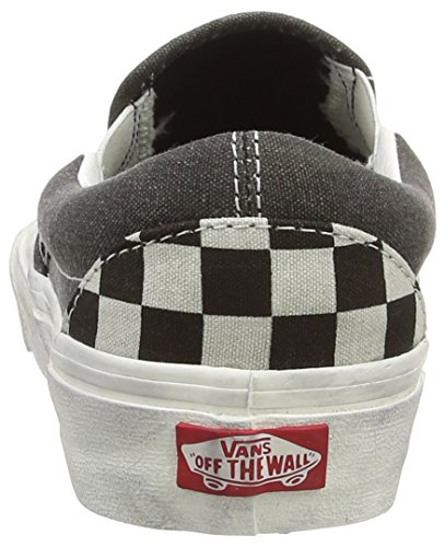 Vans U Classic Slip-on Pebble Snake - Zapatillas de estar por casa Unisex adulto negro - Black (Overwashed - Black/Check)