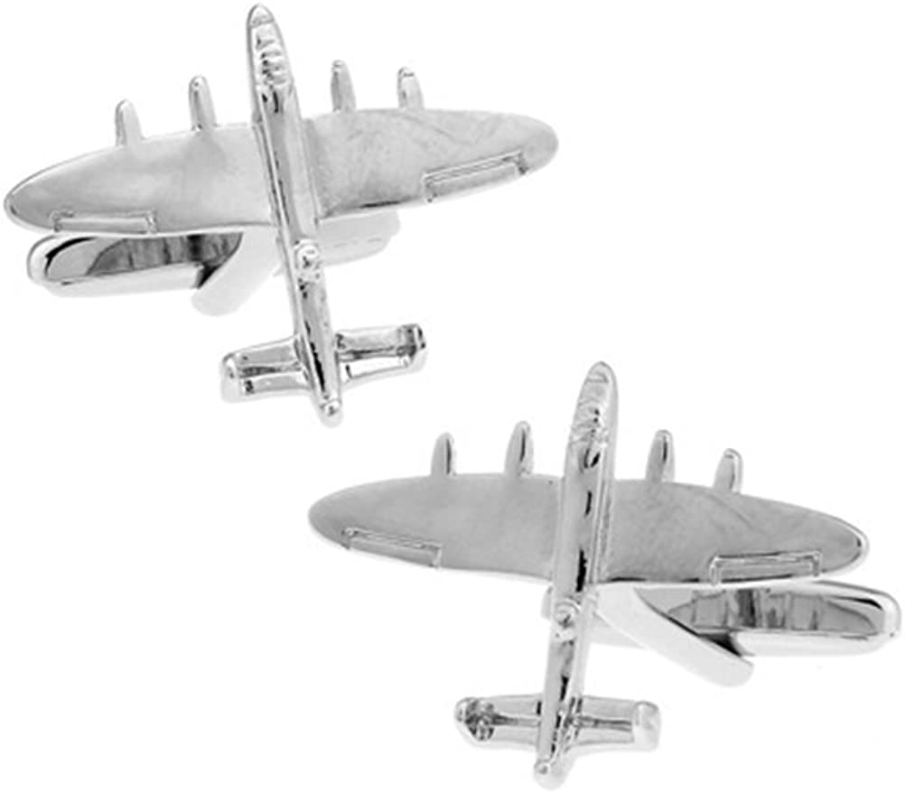 Plane Cufflinks Military Bomber Smooth Wedding Fancy Gift