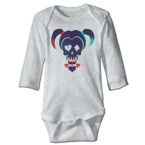 DELPT Suicide Squad Harley Quinn Fashion Infant Baby's Climb Romper 12 Months Ash