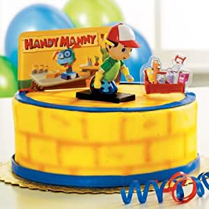 Handy manny cake toppers party supplies toys for Handy manny decorations