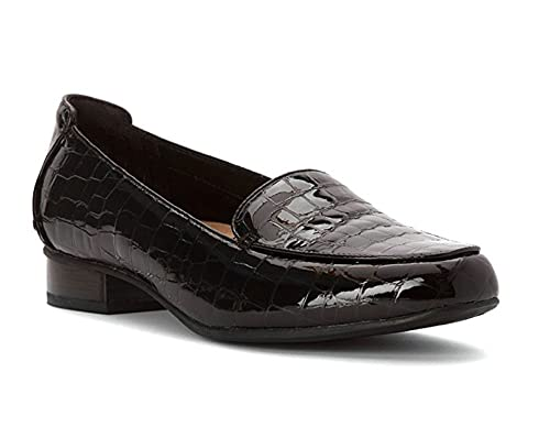 08dbab360bd Clarks Women s Keesha Luca Black Croc Patent Loafers  Amazon.ca  Shoes    Handbags
