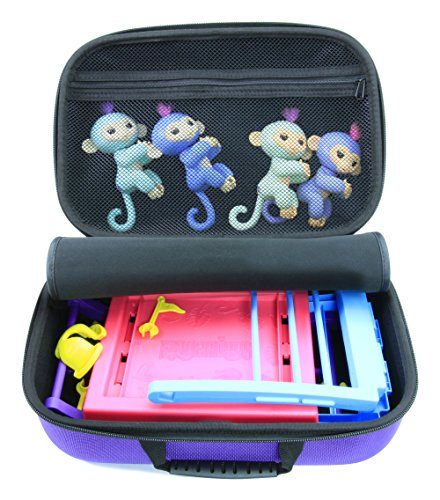 KIDCASE Travel Carry Case Fits Fingerlings Baby Monkey Collector Toys – The Fun Way To Store Your Children's Play Set Collection by KIDCASE